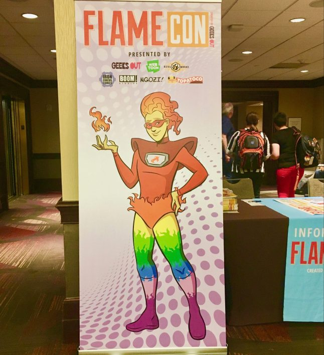 Flame Con Signage
