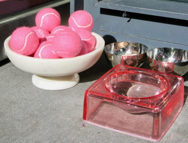 Pink Balls and Bowl