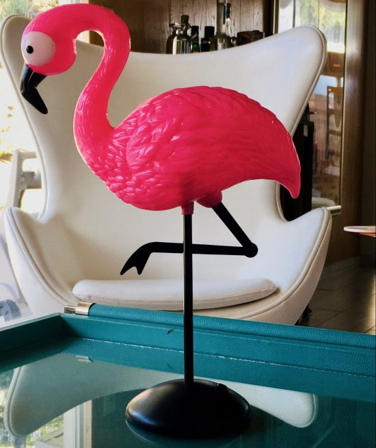 Pink Flamingo Tabletop Statue