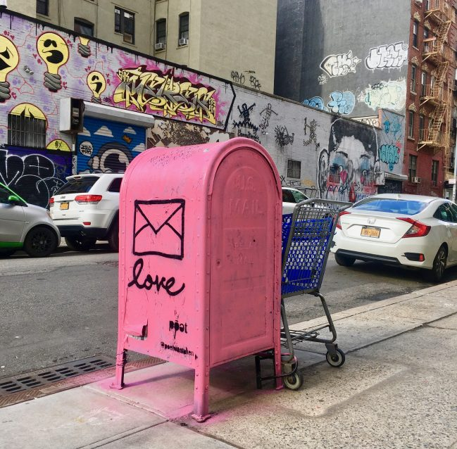 Pink Love Letters Mail Box By Gail Worley