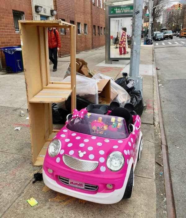 Abandoned Pink Minnie Mouse Toy Car By Gail Worley