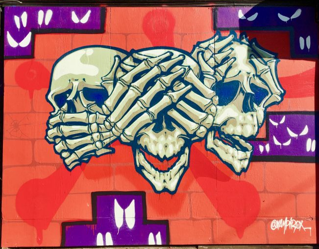 Speak No Evil See No Evil Hear No Evil Skulls By Gail Worley
