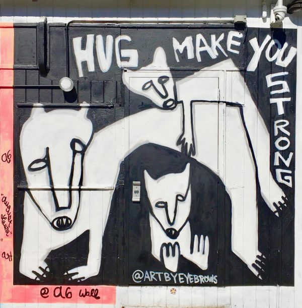 hug make you strong by eyebrows photo by gail