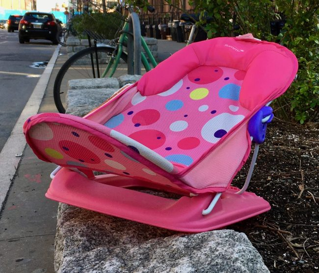 abandoned baby car seat photo by gail