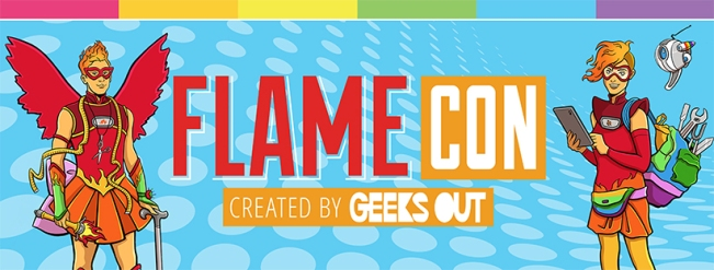 flame con banner