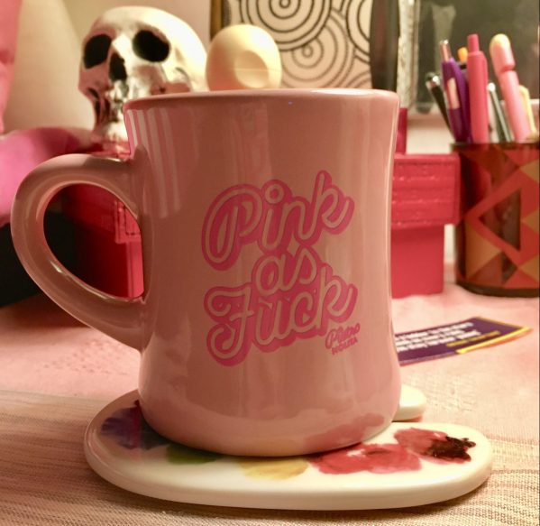 pink as fuck coffee mug photo my by gail worley