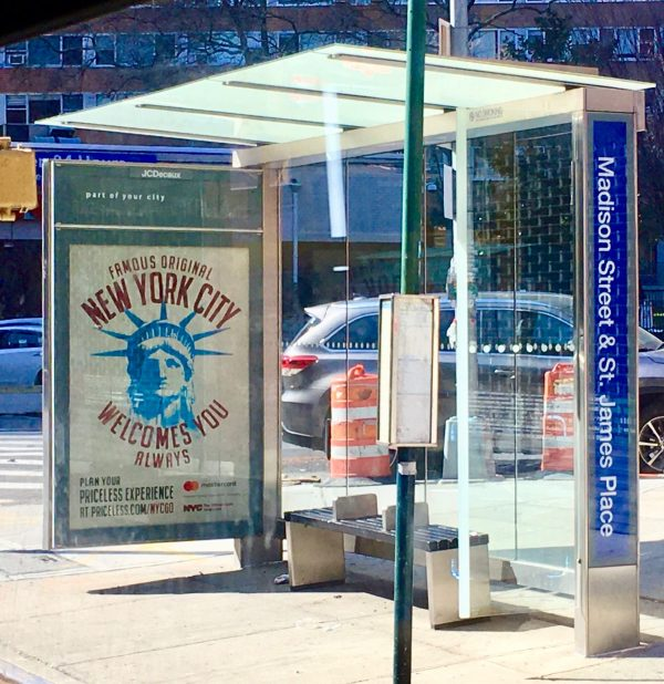 bus shelter photo by gail worley