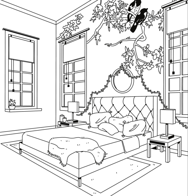 bedroom coloring book