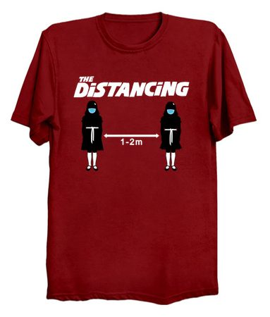 the distancing t shirt artwork