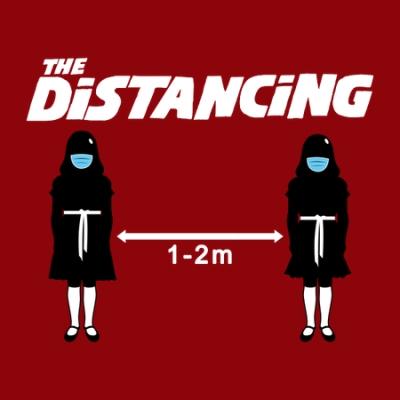the distancing t shirt artwork detail