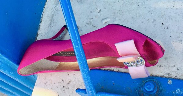 pink satin shoe photo by gail worley