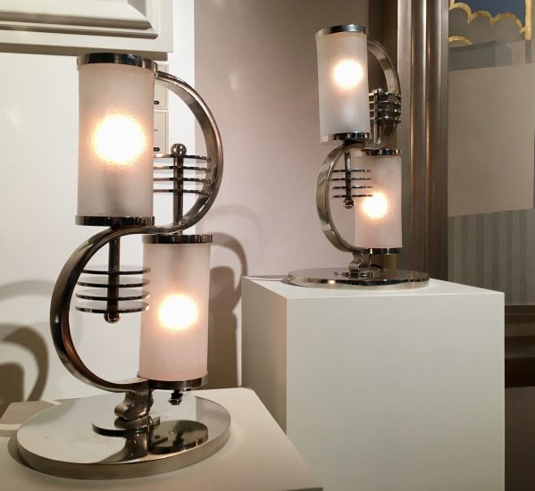 modernist table lamp by edgar brandt photo by gail worley