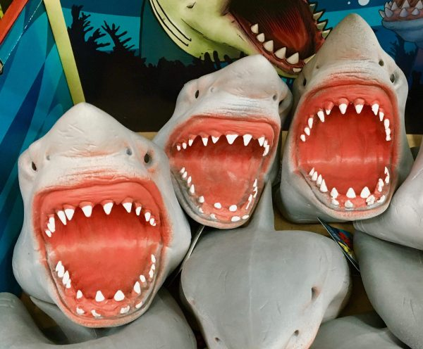 shark attack hand puppets photo by gail