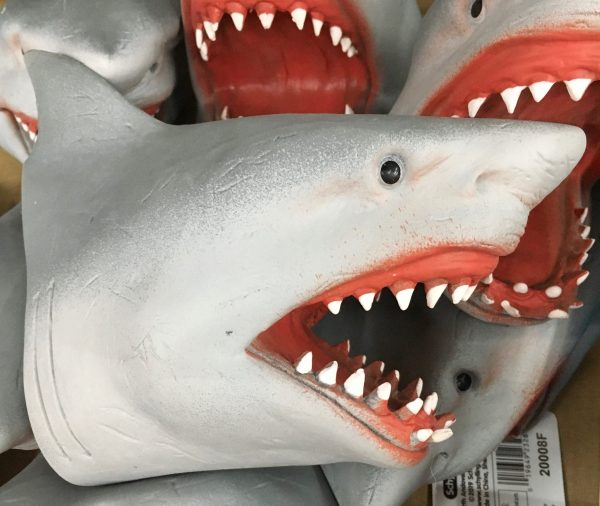 shark attack hand puppet detail photo by gail