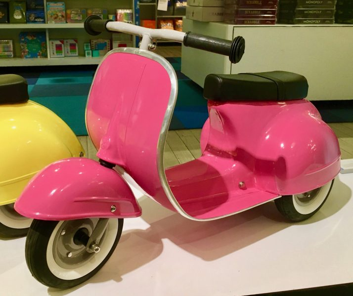 pink primo ride on push scooter photo by gail worley