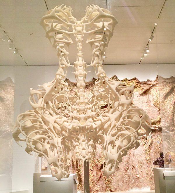 3d printed bone dress by iris van herpen photo by gail worley
