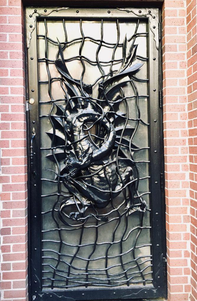 dragon door sculpture photo by gail worley