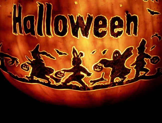 halloween carved pumpkin photo by gail worley