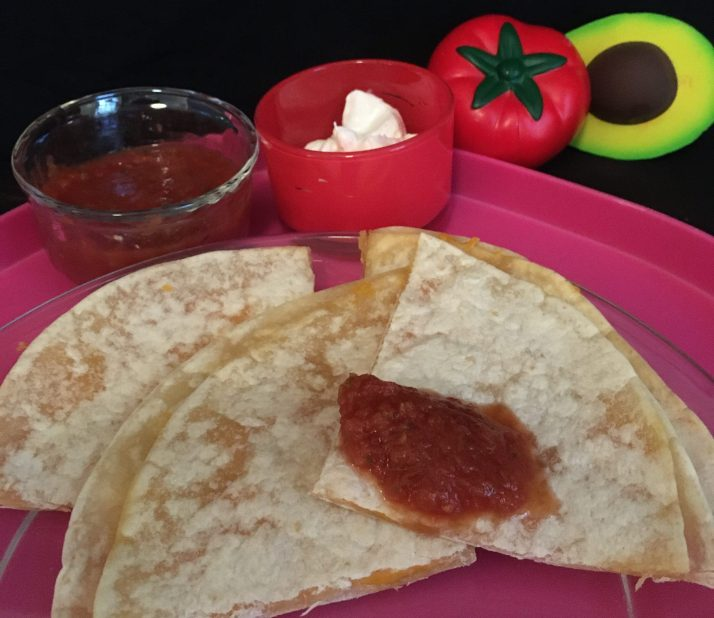 quesadilla plate with salsa photo by gail worley